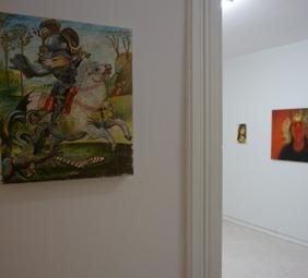 Ansicht der Galerie Anna25 mit einem Werk von Fabio Moro. Foto: Privat