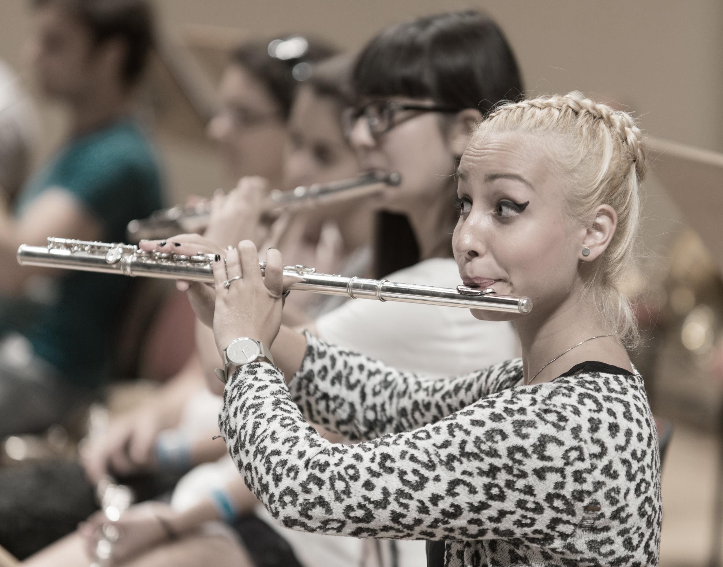 Flötistinnen bei den Young Euro Classics