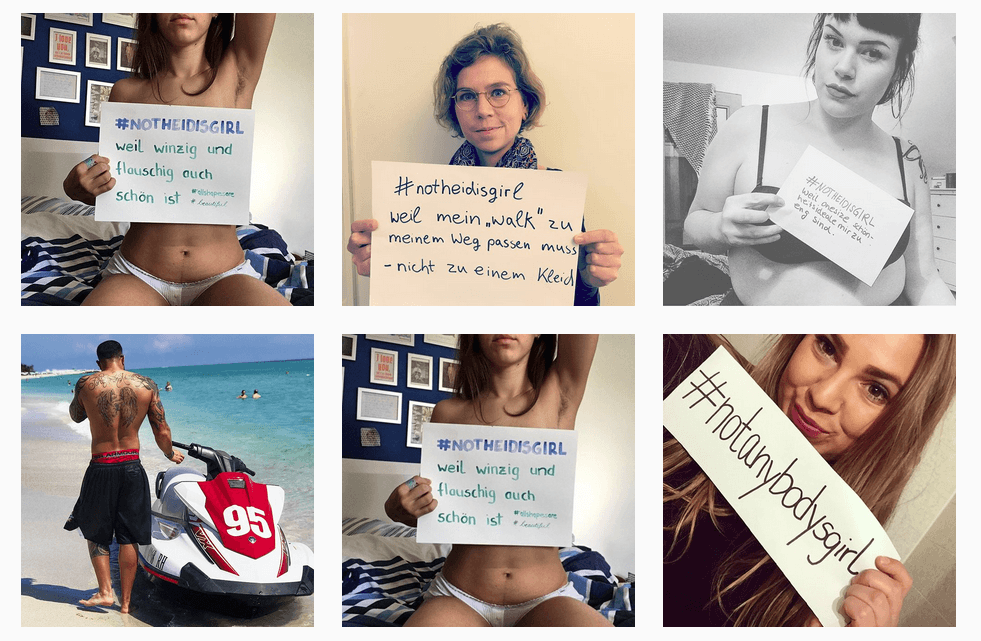 Instagram-Posts mit dem Hashtag #NotHeidisGirls