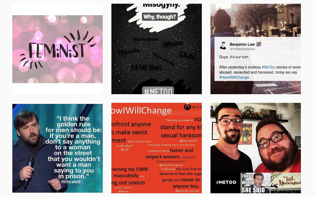 Instagram-Posts mit dem Hashtag #MeToo
