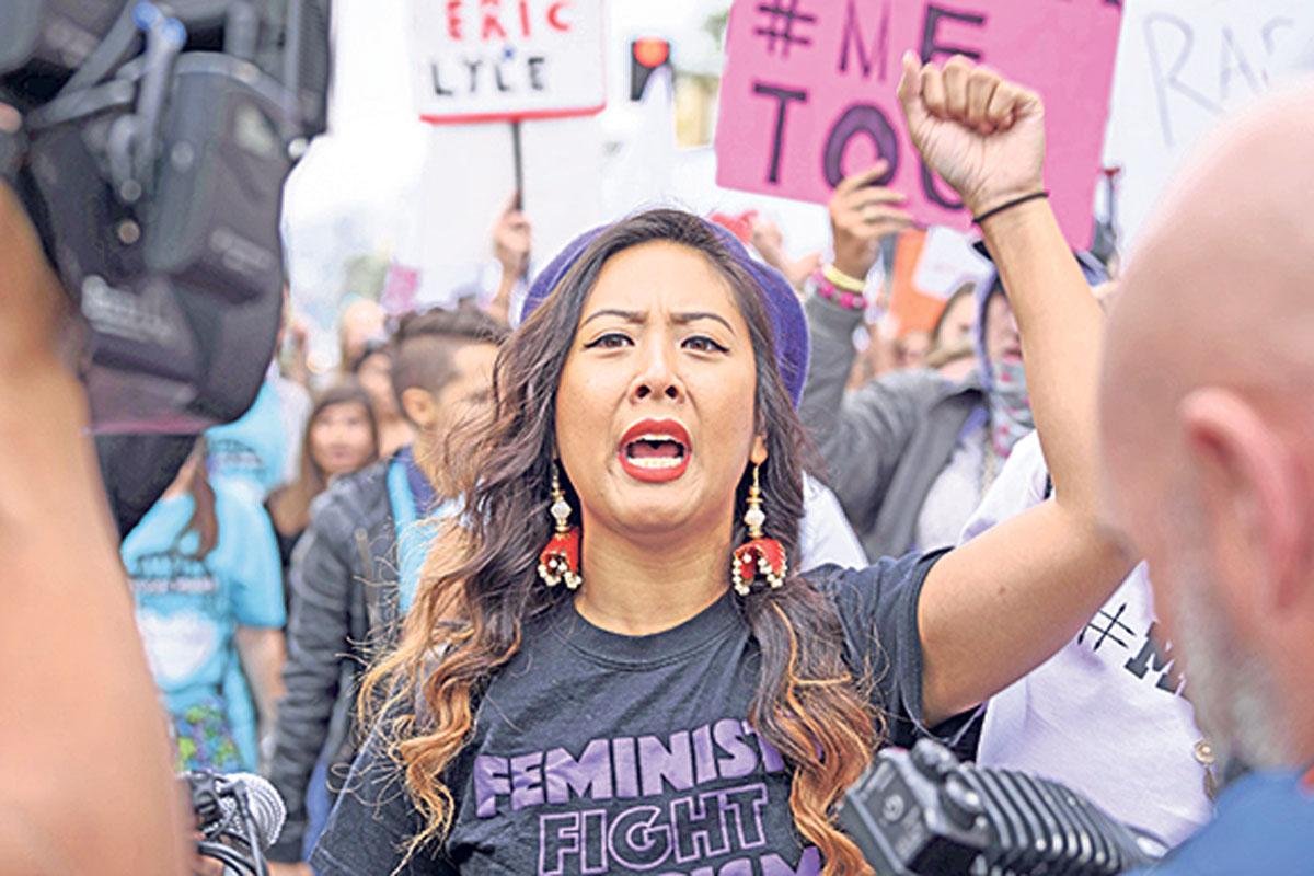 Demonstrantin MeToo