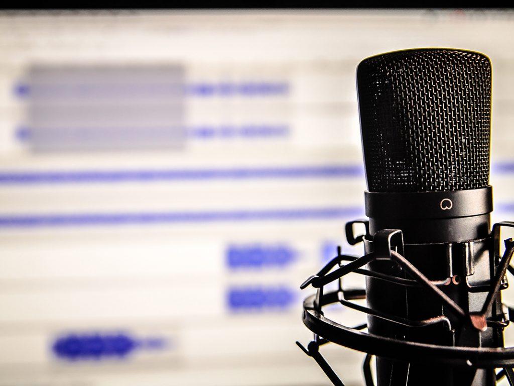 Aufnahmesituation eines Podcasts