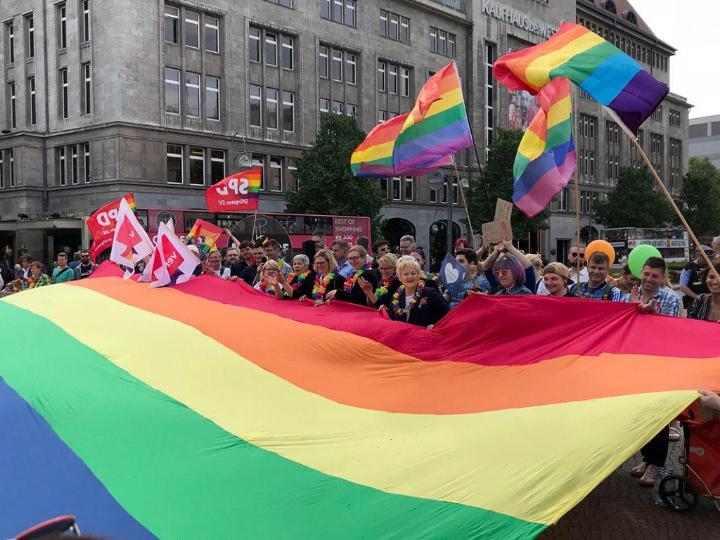 Aufnahme der Kundgebung des LSVD am Internationalen Tag gegen Homophobie 2018