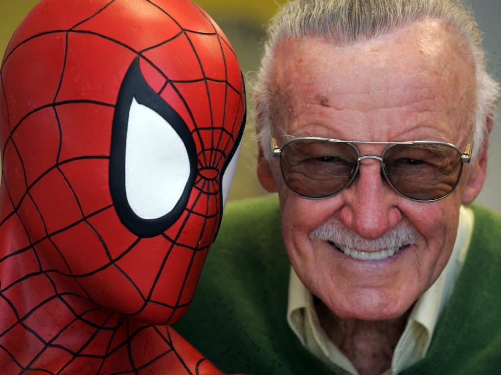 Stan Lee mit Spiderman