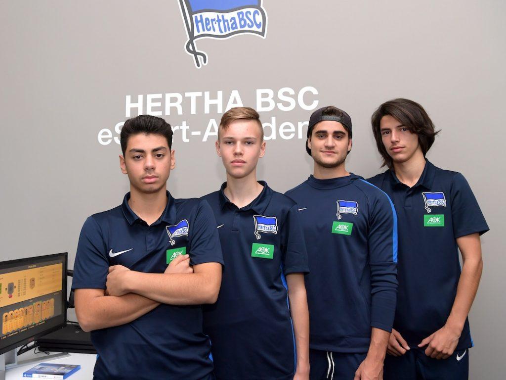 Das E-Sports-Team von Hertha BSC