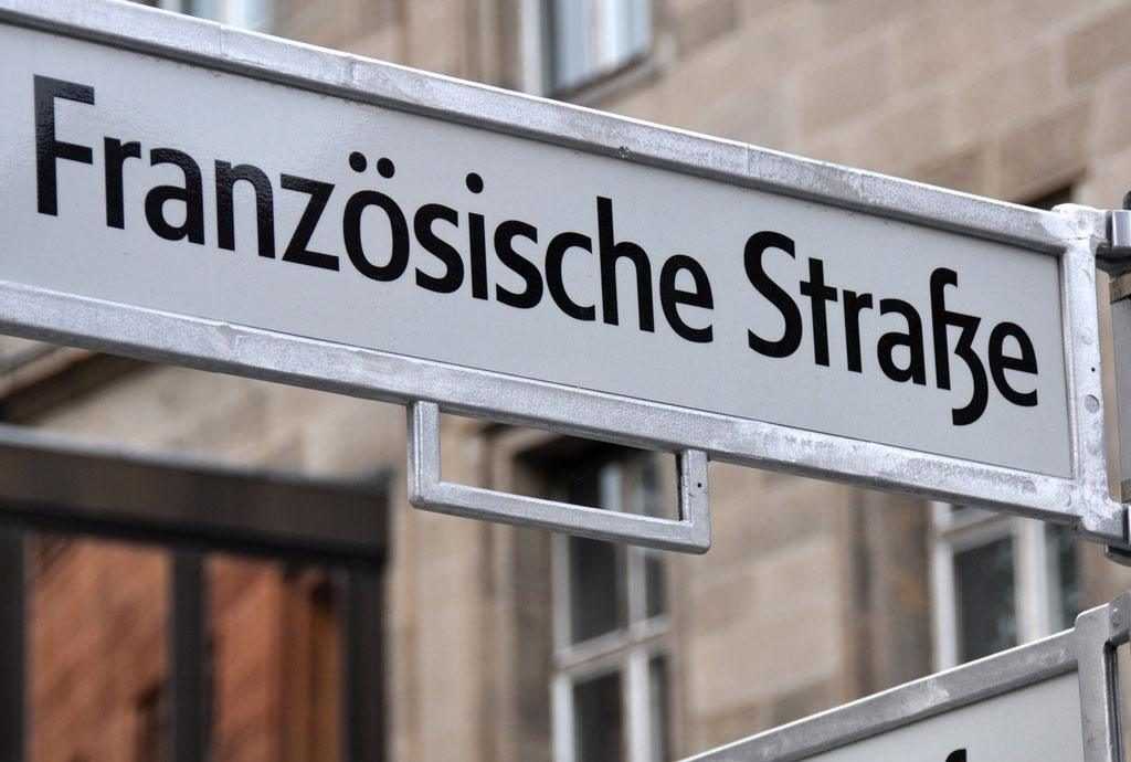 Schild Französische Straße in Berlin (c)