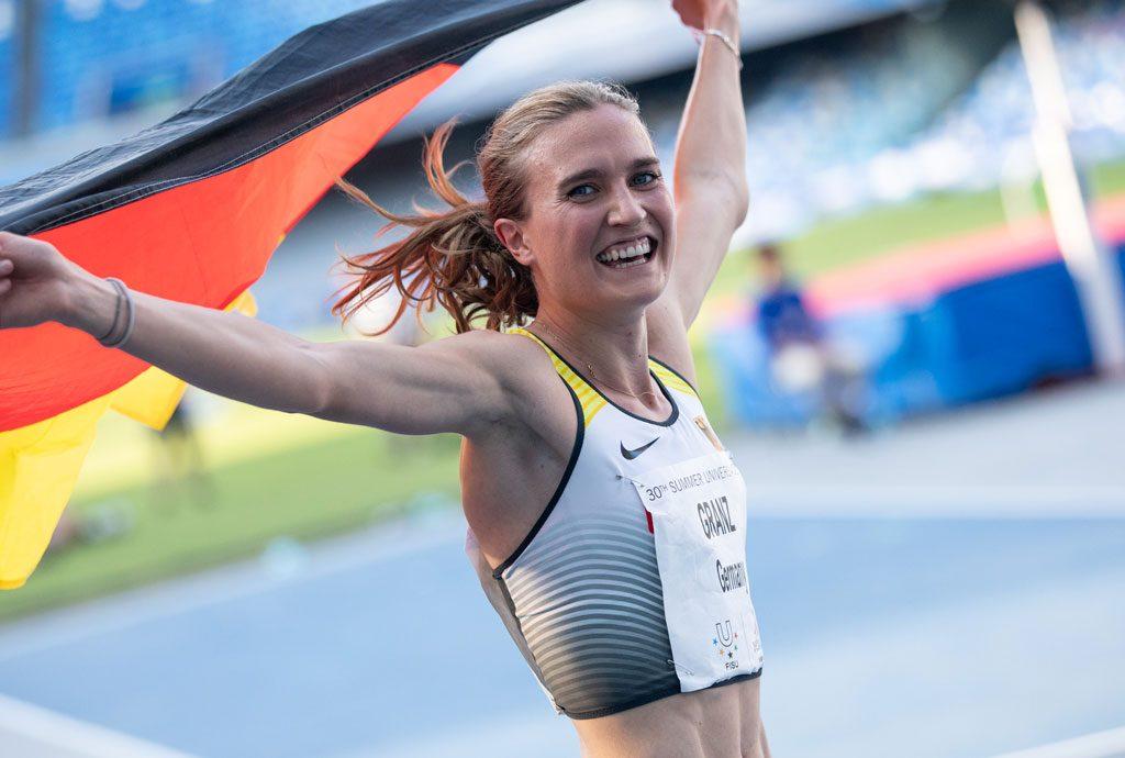 Caterina Granz bei der Universiade