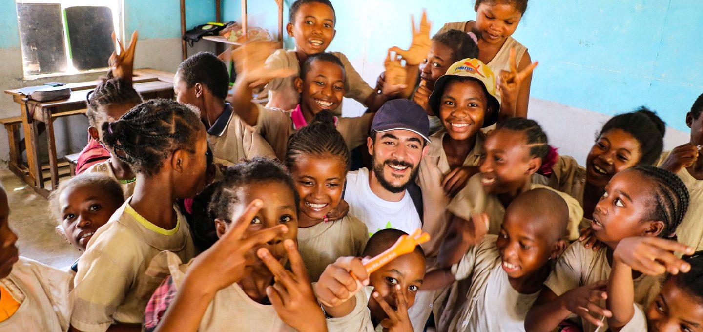Schulklasse in Afrika