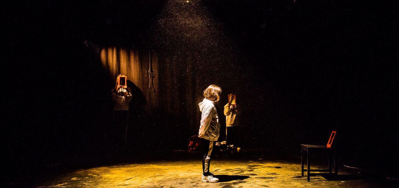 Tänzerin während Aufführung